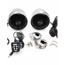 SHARK 3.0 Inch Amplified Motorcycle Speaker 2 Channels Amplifier Built-in