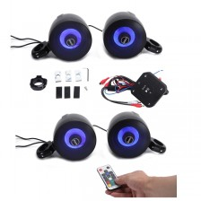 SHKA04C60B  4ch amplified bluetooth controller with 2pair RGB 4inch speakers