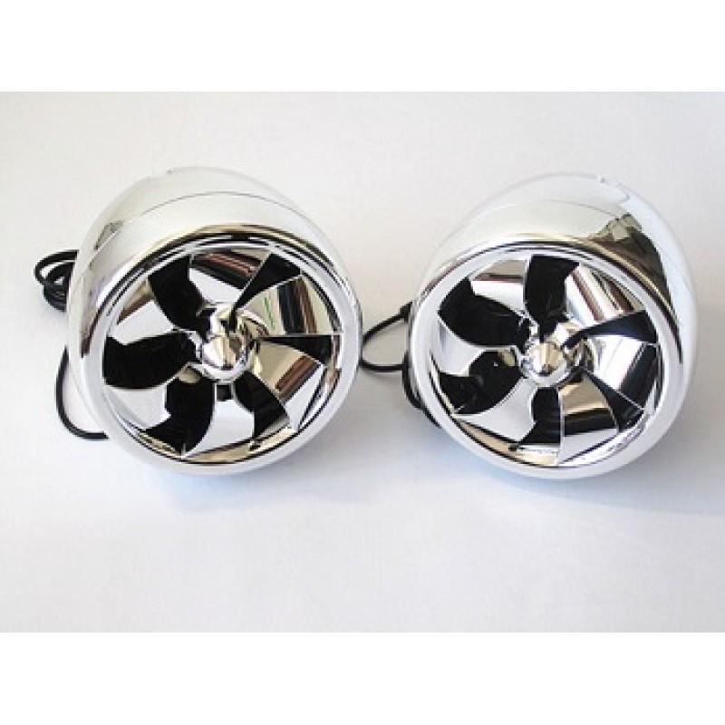3.0 Inch Full Frequency Chrome Motorcycle Speaker UTV RCA Harness